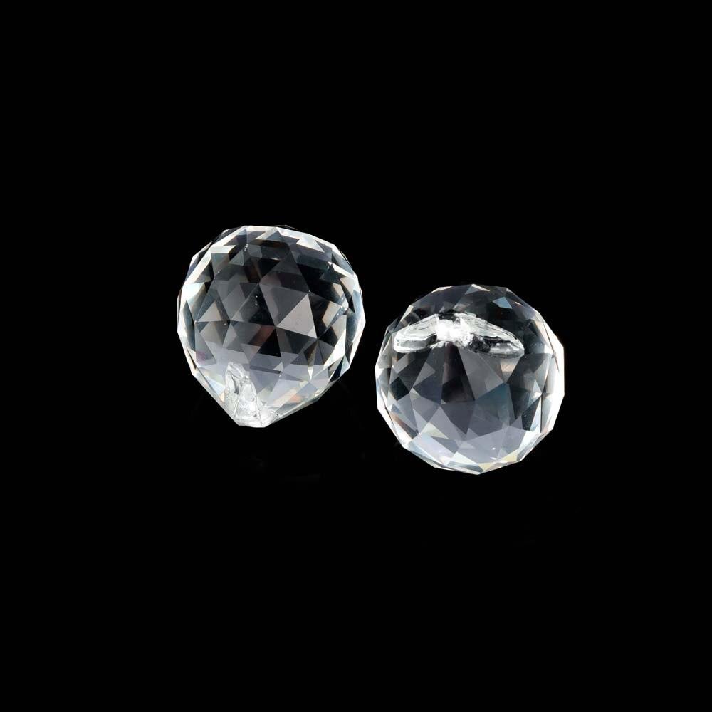 1 Pc 30mm Transparent Klar Kristall Ball Lampen Dekoration Glas Facettierte Diy Zubehör Kronleuchter Hängen Anhänger Decor Geschenk Wasserdicht, StoßFest Und Antimagnetisch
