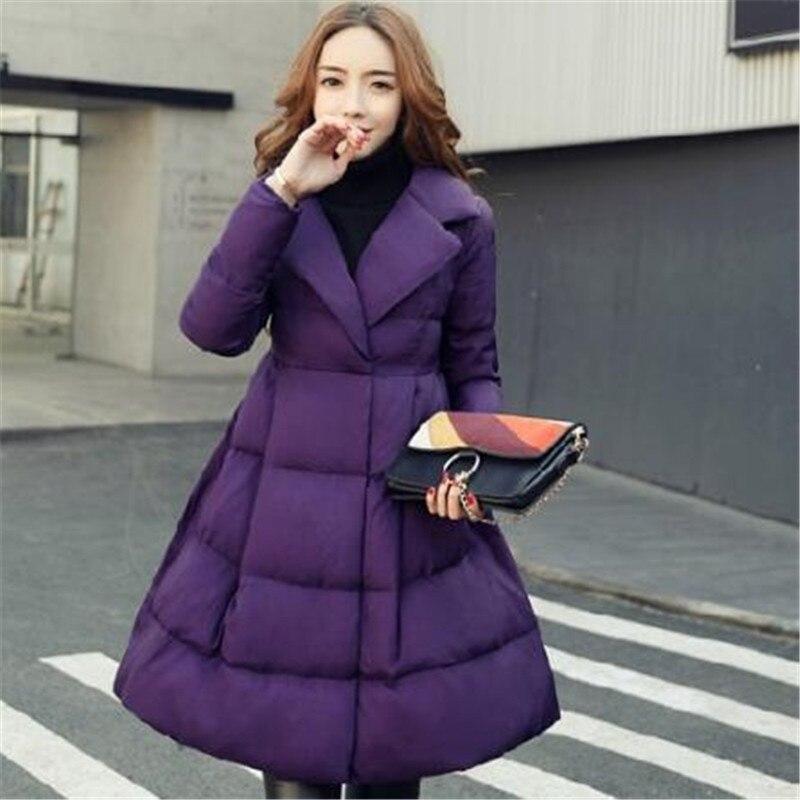 Y781 purple Femmes Des Mode 2019 Down Manteau Veste Coton Long Chaud Mince Tnlnzhyn Épaisse Moyen Le De D'hiver Nouveau Purple black Bas Vers Cwq14HX