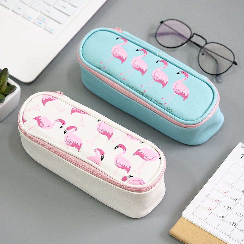 Korea Style Multifunctional Simple Design Pencil Bag School Stationery Students Large Capacity Pencil Box Zipper 208*75*70mm купить