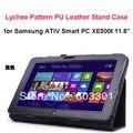 """Личи Шаблон PU Кожаный Чехол для Samsung ATIV Smart PC XE500t 11.6 """"tablet PC, XE500T стенд крышку, свободный корабль"""