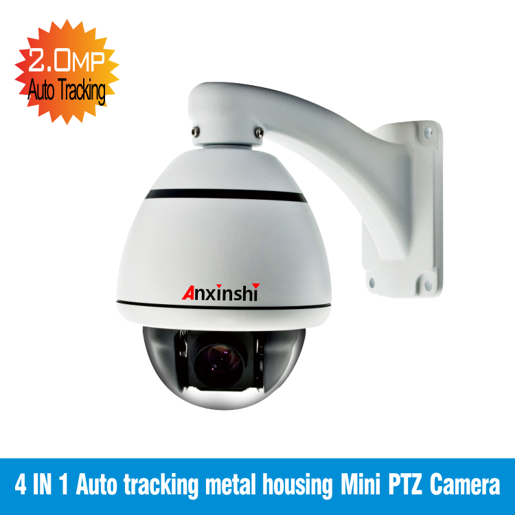 1080 P 4 en 1 sortie suivi automatique 10X Zoom/panoramique/inclinaison mini caméra extérieure ptz dôme support IP66 avec contrôle de câble Coaxial