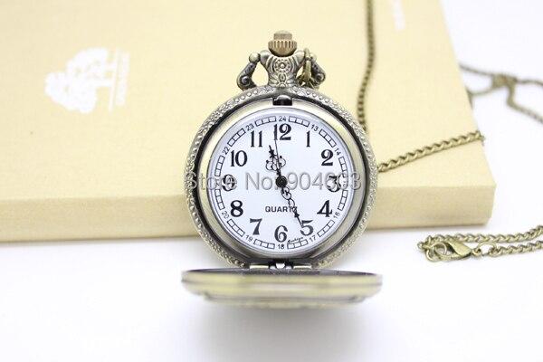 1018) 12 шт/партия винтажные бронзовые часы Tim Burton's nightster перед Рождеством карманные часы ожерелье диаметр 4,5 см