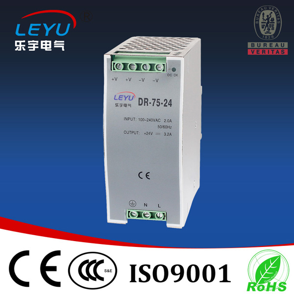 metal case 75w 24v 3.2A din rail power supply high quality PSU DIN rail 4228ss sop8