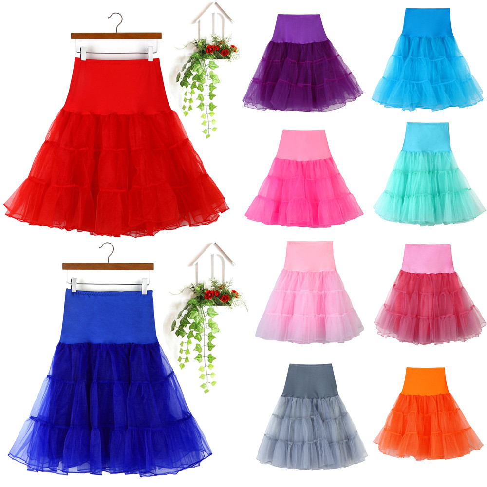 jupe tulle femme High Waist Pleated Short Adult Tutu Dancing Skirt in Ten Colour HIgh Quality for Dropshipping falda mujer