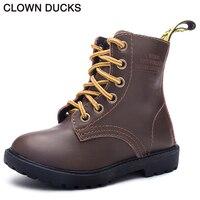 CLOWN DUCKS Fashion Children Boots For Boys Girls Snow Shoes Kids Autumn Winter High Quality Comfy