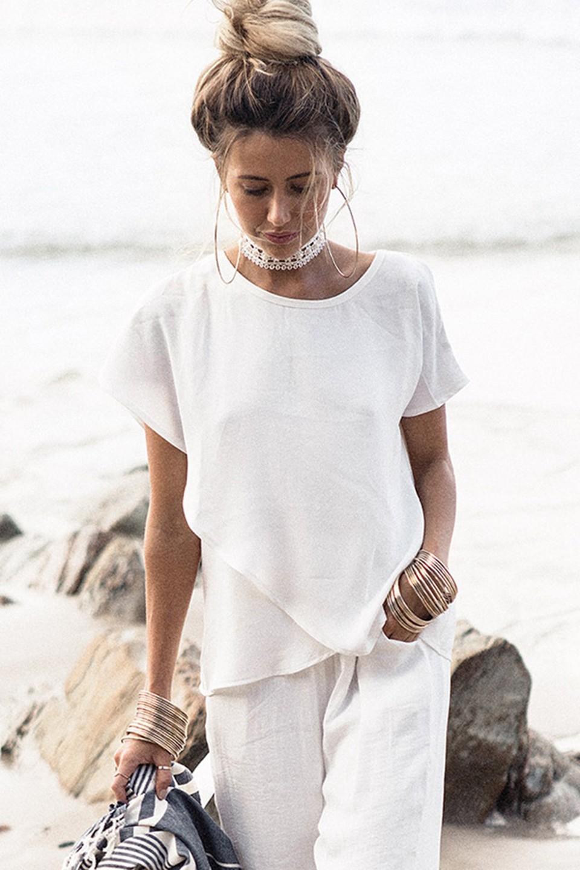 HTB1rH5XNpXXXXaEXVXXq6xXFXXXU - Short Sleeve White Chiffon Blouses Womens Clothing Summer