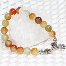 Многоцветный каменный халцедонский нефрит эластичные браслеты