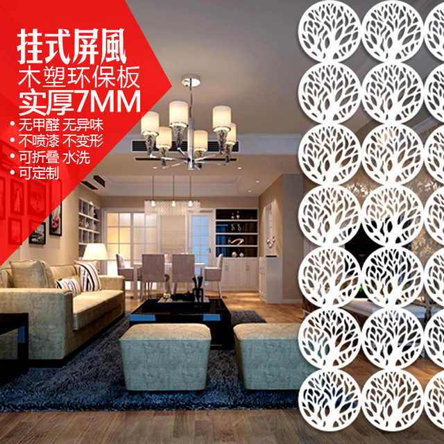 Circular Wooden Hanging Screens/Room Partition Folding