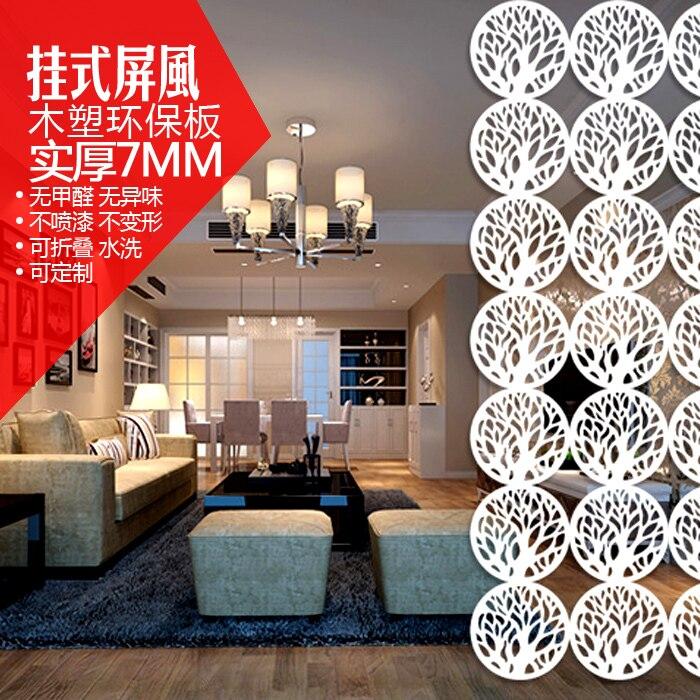 US $45.0  Rund Holz Hängenden Bildschirmen/Raumteiler Wandschirme Für  Wohnzimmer Schlafzimmer Café Hochzeit Dekoration/Soft Partition-in  Sichtschutz & ...