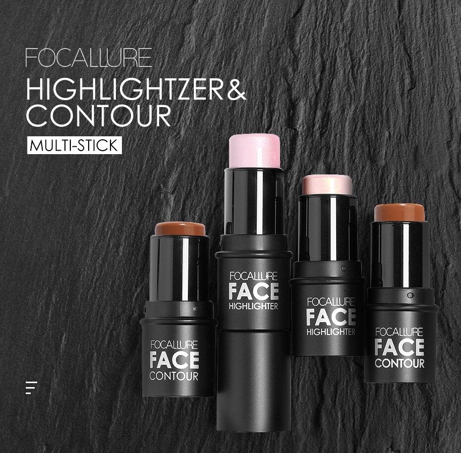 women Focallure oil control face highlighter
