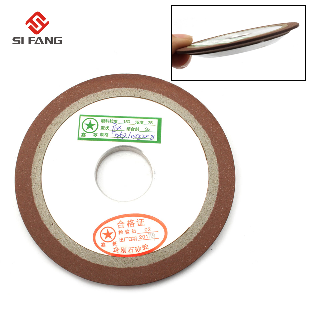 PDX 125mm One Tapered Side Plain Resin Diamond Saw Blade Grinding Wheel 150 grit with Bore Dia 13/16/20/25/32mm роборыбка марлин 25138m
