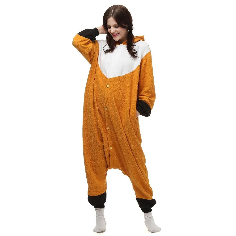 HKSNG New Adult Animal Orange Fox Pajamas High Quality Cartoon ...