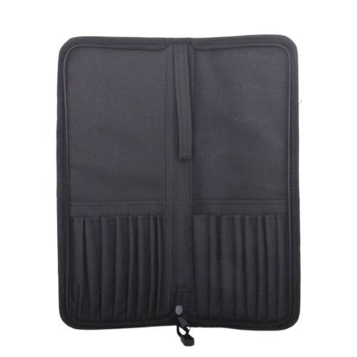 5pack Foldable Oxford Fabric Zipper Artist Brush Bag Case Holder--Black цена