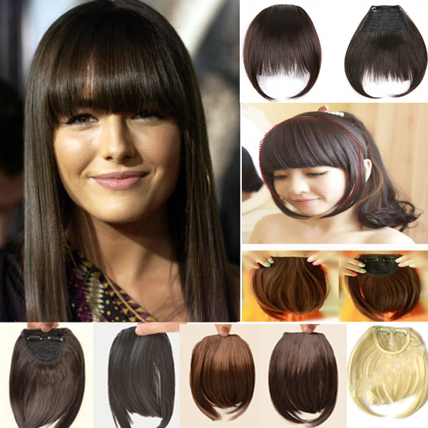 Free parting natural looking clip in black straight virgin human free parting natural looking clip in black straight virgin human hair fringe hair pieces bangs hair extension in bangs from hair extensions wigs on pmusecretfo Images