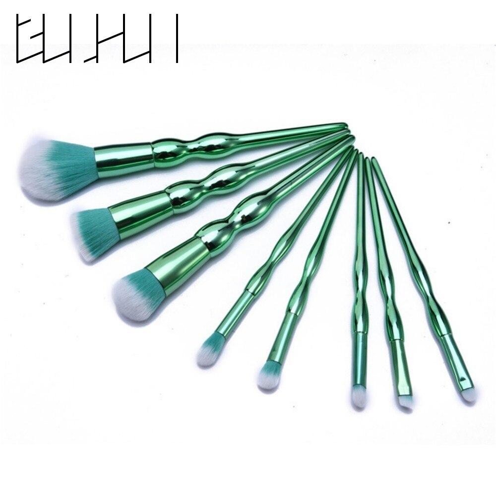 Pro Gourd Shape Facial Make Up Brush Set Face Foundation Powder Eyeshadow Lip Blusher Contour Beauty Cosmetic Brushes Tool Kit
