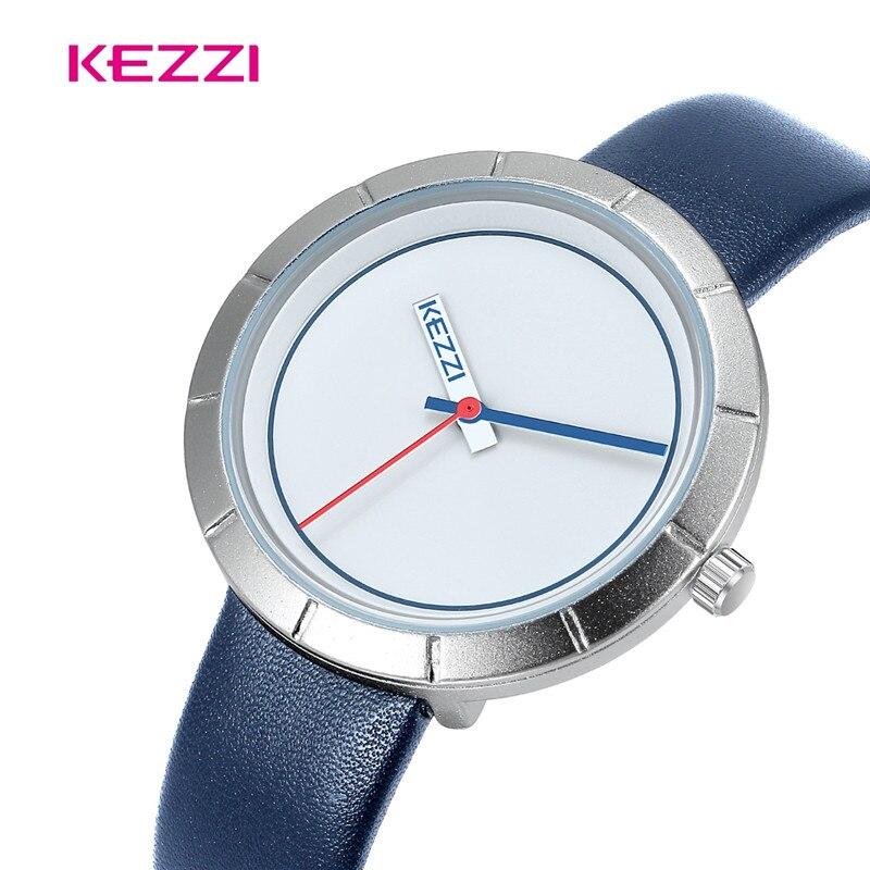 KEZZI Montres Pour Femmes En Cuir Quartz Ruban Rouge Poche Montre Femme Horloge Feminino Montre Reloj Mujer Bayan Kol Saati