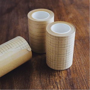 70mm wide vintage vellum paper line / grid / square decorative paper tape DIY diary scrapbooking masking tape release papers(China)