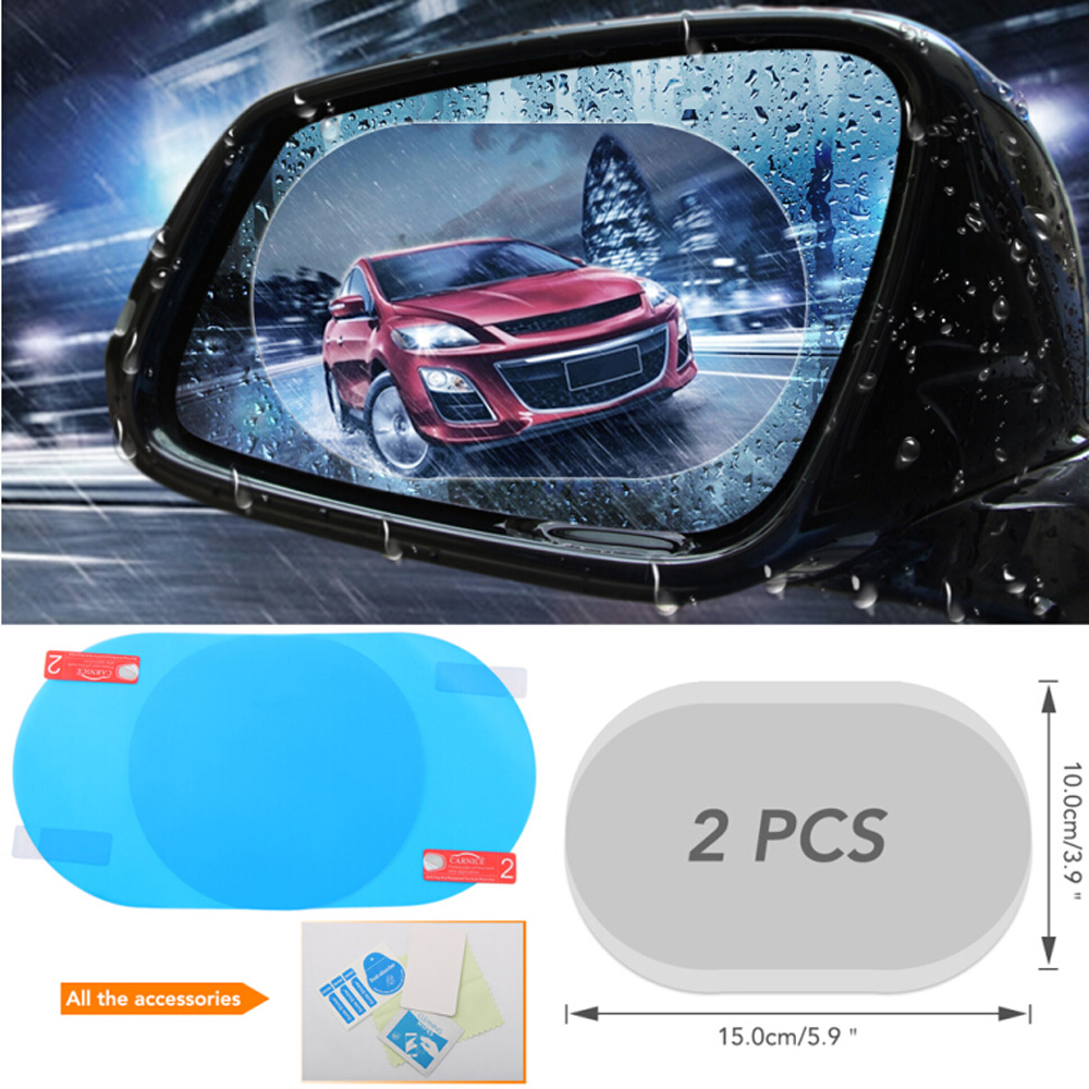Earnest 2pcs Car Rearview Mirror Waterproof And Anti-fog Film For Fiat 500 600 500l 500x Diagnostic Punto Stilo Bravo Freemont Stilo Car Tax Disc Holders