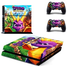 Game Spyro The Dragon PS4 Skin Sticker Decal Vinyl for Sony Playstation 4 Console and 2 Controllers PS4 Skin Sticker