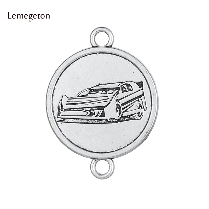 Lemegeton 5Pcs Silver Plated Fearless Race Wear Engraved Car Charms  Car Pendant Fit for Necklace Making