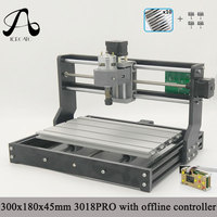 Free Shipping ICROATO GRBL Offline Controller Wood Router Engraver 3Axis PCB PVC Milling machine CNC 3018 PRO Diy CNC machine