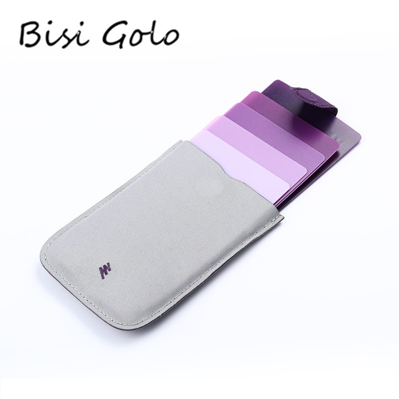 BISI GORO 2018 New Style Men Women Fashion Card Holder Colorful Thin Mini Wallet Casual Business Pull Card Holder Creative Gift ultra thin colorfulcascading pull out card holder wallet