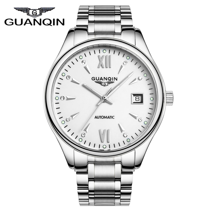 Full Steel Business Luxury Brand Name Automatic Mechanical Watch Self Wind Men Dress Wristwatches Free Shipping все цены