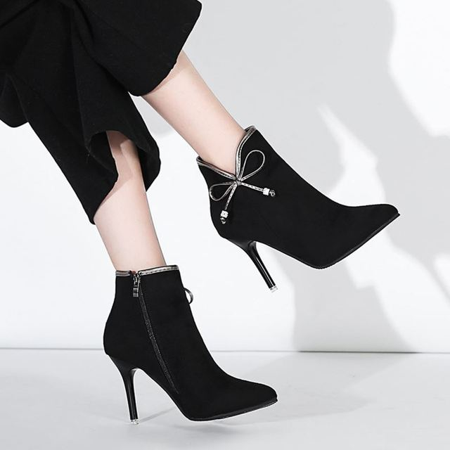 d81100e02 2018-new-women-s-booties-wild-pointed-high-heeled-stiletto-bow -side-zipper-and-bare-boots.jpg 640x640.jpg