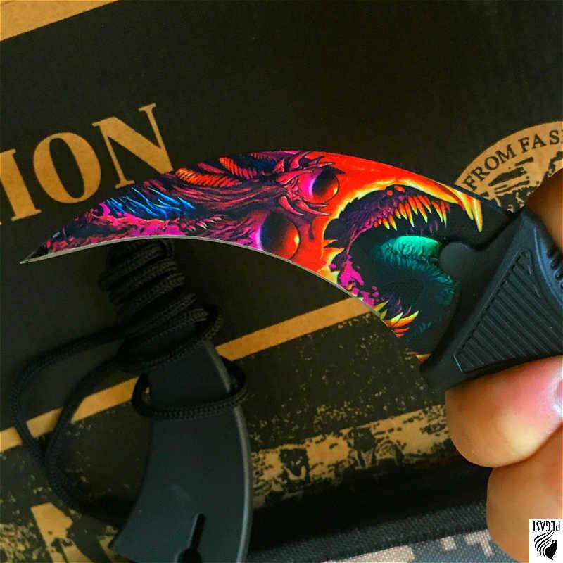 CS violento ANDARE Farfalla in coltello Karambit coltello pieghevole formazione lama del regalo della lama Pratica balisong coltello non affilata in metallo