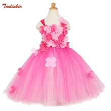 Tonlinker Girls Couture Rainbow Tutu Dress Kids Halloween Circus Clown Photo Props Birthday Costume Colthing New 2018