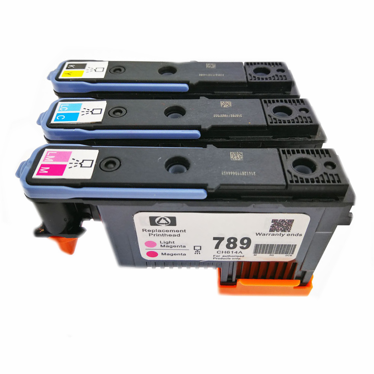 1Set For HP 789 DesignJet Printhead For HP DesignJet L25500 Printer CH612A CH613A CH614A For HP 789 Printhead  1x 789 printhead yellow black for hp 789 l25500 printer head ch612a