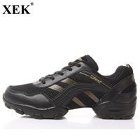 XEK 2018 Mesh Breathable Soft Dance Sneakers Majoring Dance Sneakers Male Sports Dance Men Modern Salsa Jazz Dance Shoes JH178