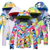 Men And Women Winter Ski Snowboarding Climbing Hiking Trekking Windproof Waterproof Warm Hooded Jacket Coat Outwear