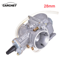 CARCHET Motorcycle Carburetor Motorbike Parts Carb Modification 28mm KOSO High Quality Carb With Power Jet Fit for Race Scooter