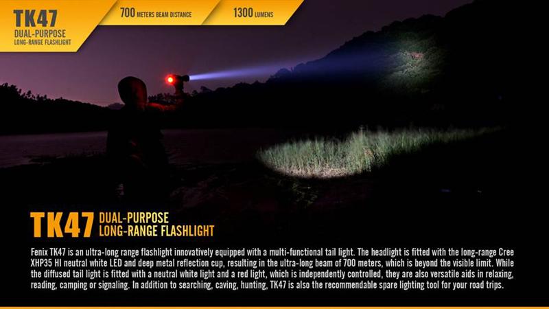 Fenix TK47 700 Meters Beam Distance Long Range Flashlight (9)