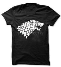 Game of Thrones casa Stark Sigil T SHIRT TEE TSHIRT Womens unisex maglietta di Modo(China)