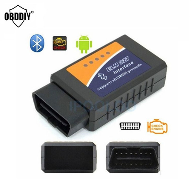 Hot sale ELM 327 Bluetooth best hardware V1.5 OBD II ODB2 ELM327 Car Diagnostic Interface Scanner Works On Android Torque