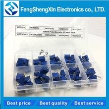 50pcs/lot New 3296W Multiturn Trimmer Potentiometer Kit High Precision  Variable Resistor 500R 1K 2K 5K 10K 20K 50K 100K 200K 1M
