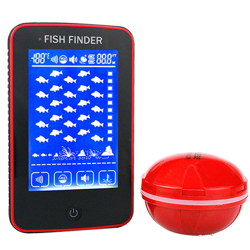 Erchang Smart Portable Depth Fish Finder with 500M Touch Screen Wireless Sonar Sensor echo sounder Fishfinder Lake Sea Fishing erchang f3w portable fish finder bluetooth wireless echo sounder sonar sensor depth fishfinder for lake sea fishing ios