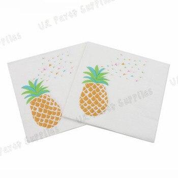 200pcs Pineapple Paper Napkin Home Guest Table Hawaiian Party Decoration Bachelorette Wedding Hen Party Supplies