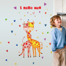 SK7076 Creative Wall Stickers With Couple Deer Unique House Decal Mobile Affixed Decorative