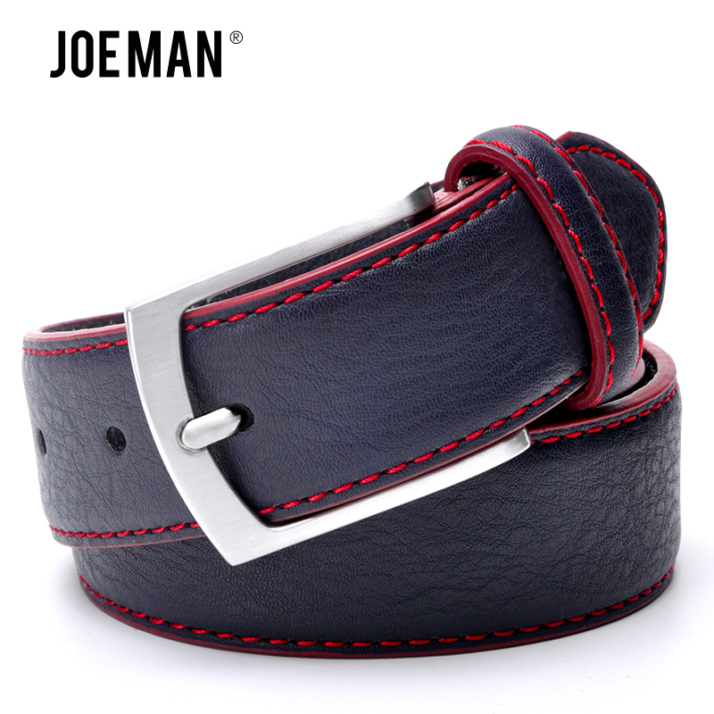 Men Leather   Belt   Casual Pin Buckle   Belt   Dark Blue Color Men's   Belts   Cummerbunds ceinture homme