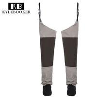 Fly Fishing Waders Hip Wader Breathable Thigh waders Waterproof trousers Leg pants with Stocking foot fish tackle
