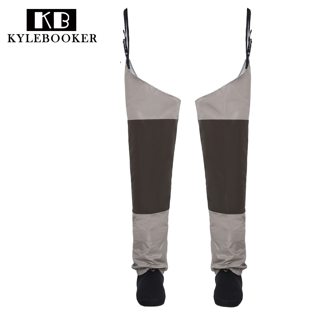 Fly Fishing Waders Hip Wader Breathable Thigh waders Waterproof trousers Leg pants with Stocking foot