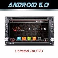Quad Core autorádio 2 din android 6.0 radio nawigacja gps 2din samochodowy odtwarzacz dvd kierownicy Widok Z Tyłu Kamery WIFI TV (opcja)