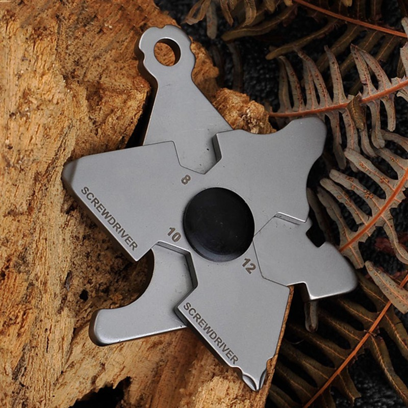 Outdoor Tool Protection Tool Weapons Personal Self Defence Stainless Steel Bottle Opener Combination Wrench Self Defense Supply