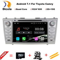 Two Din 8 Inch Android Car DVD Player For Toyota Camry 2007 2011 With Radio GPS