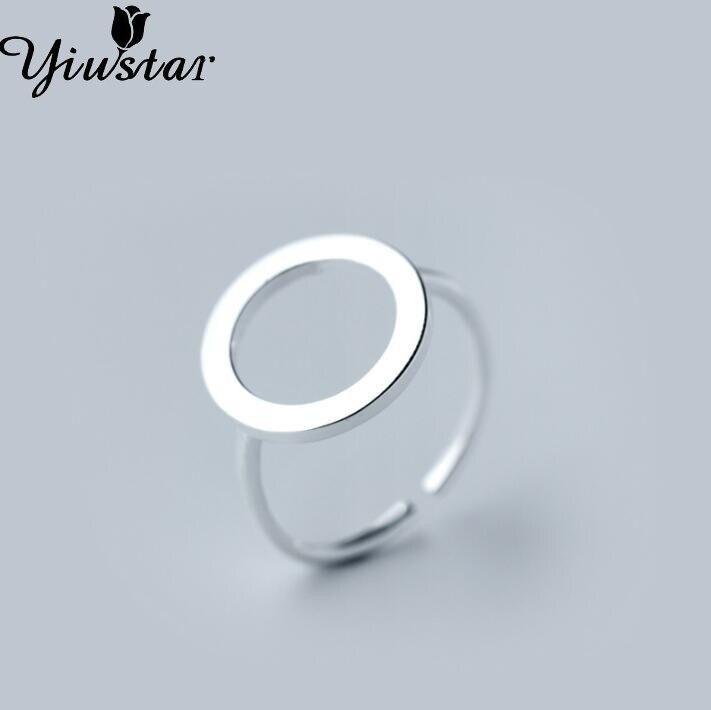 b3cc189696db Yiustar кольца для Для женщин регулируемые геометрические круг кольца  женский подарок SYJZ010