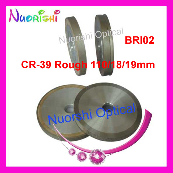 BRI Diamond Grinding Wheel for Similar BRIOT Auto Lens Edger Glass CR39 Polycarbonate PC Lens Rough Fine Cutting Wheel