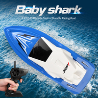 JJRC S5 Rc Boat Baby Shark Latitude 2.4ghz 10km/h High Speed Mini Racing Speedboat Remote Control Toy For Children RC Model Ship